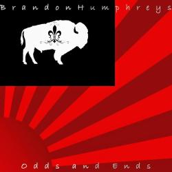 Cover art for Brandon Humprheys' Odds and Ends album.  Cover is Brandonia Logo - a Red, Black, and White flag with a setting sun and an american bison silhouetted in a black rectangle.