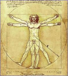 """Da Vinci's classic sketch """"The Vitruvian Man"""""""