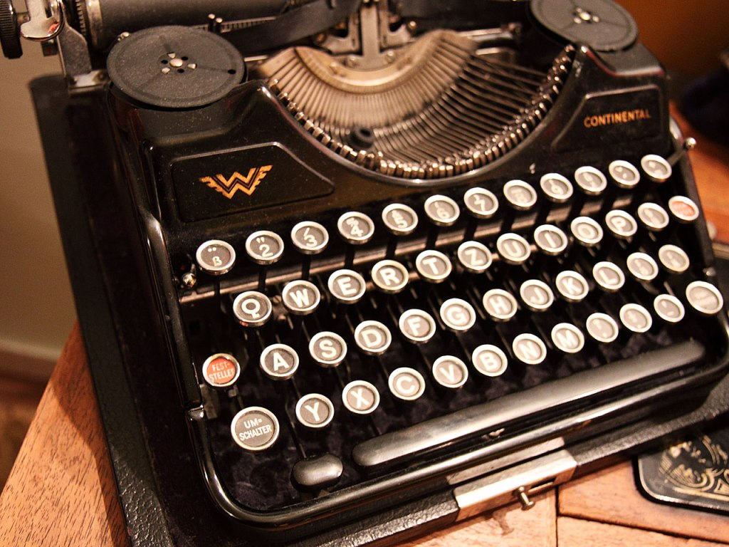 Photograph of an old typewriter.