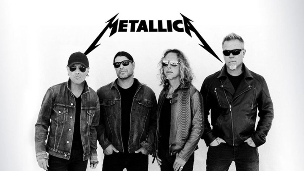Metallica: (left to right) Lars Ulrich, Robert Trujillo, Kirk Hammett, and James Hetfield
